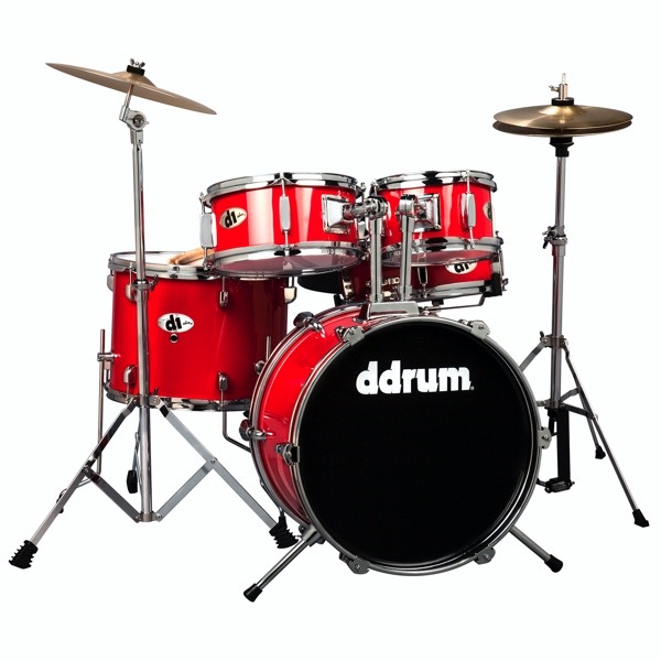 D1 Junior - Candy Red - Complete drum set with cymbals