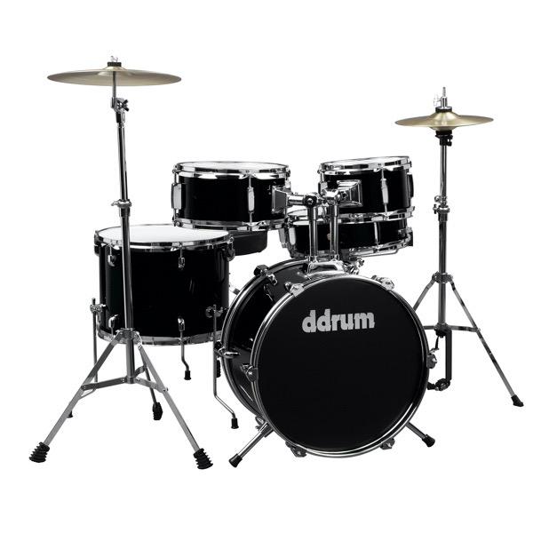 D1 Junior - Midnight black - Complete drum set with cymbals