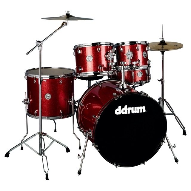D2- Red Sparkle - Complete drum set with cymbals