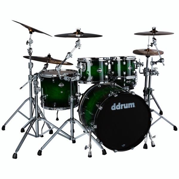Dominion Birch 5pc Shell Pack with Ash Veneer Green Burst