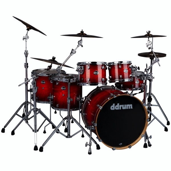 Dominion Birch 6pc Shell Pack with Ash Veneer Red Burst