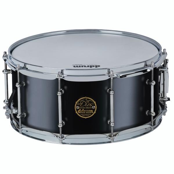 Dios Series Maple 6.5x14 Satin Black Snare Drum