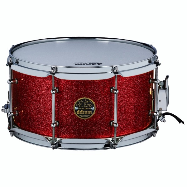 Dios Maple 7x13 Snare Red Sparkle