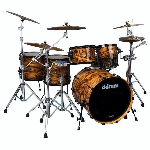 Dios Maple 5pc  with exotic zebra wood veneer shell pack