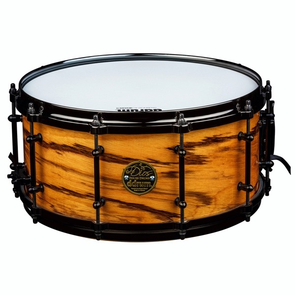 Dios 6.5x14 Maple with exotic zebra wood veneer snare