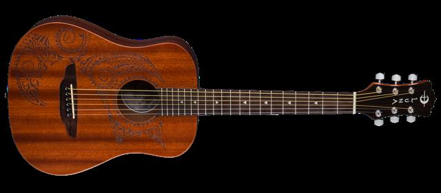 Safari Tattoo Travel Guitar w/ Gigbag