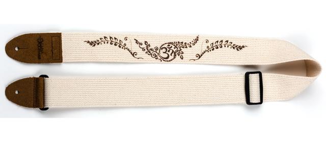 Luna Guitar Strap Henna Pattern Cotton - Cream