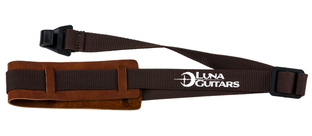 Ukulele Strap w/ Leather Pad - Brown