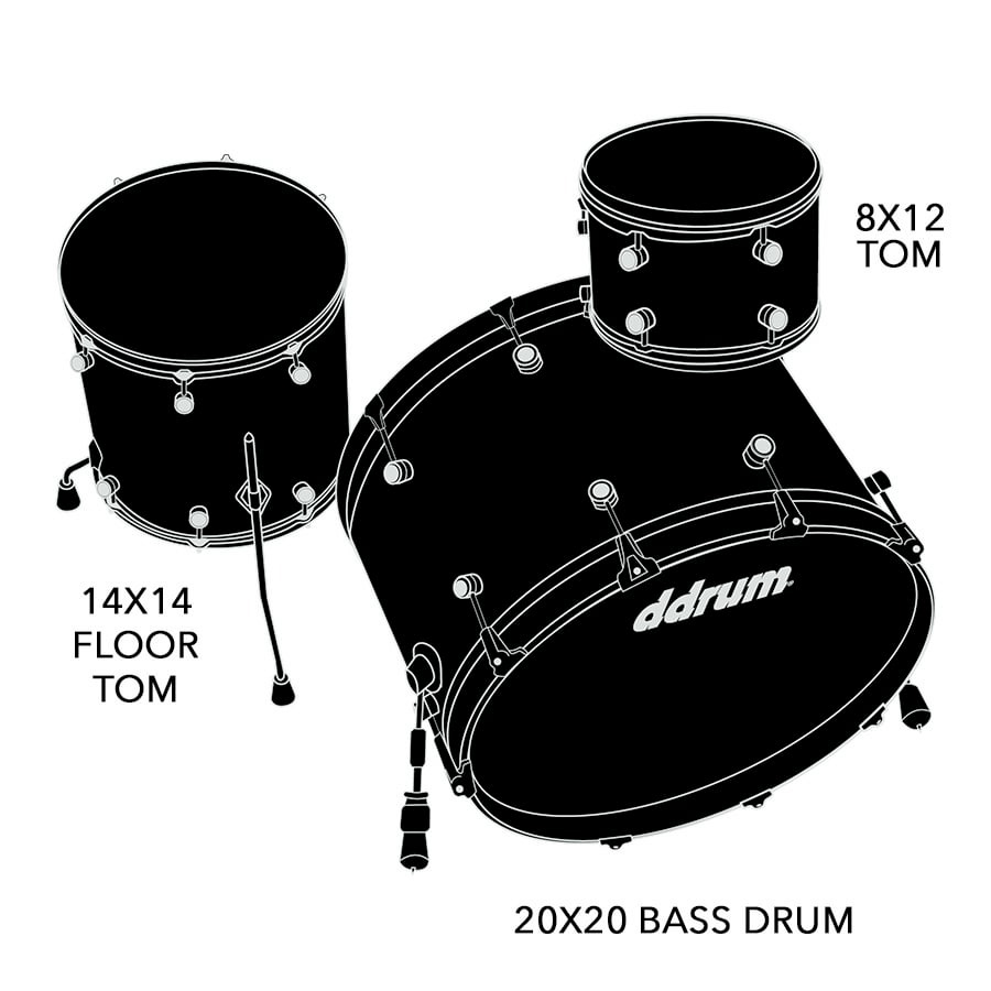 Dios 3pc Satin Black Shell Pack