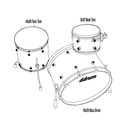 MAX - 3pc - Satin Natural - Shell Pack