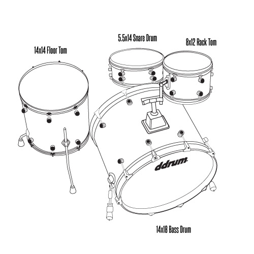 SE Flyer- 4pc - White Pearl - Shell Pack